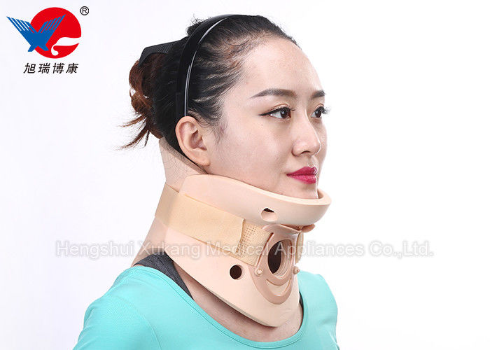 Skin Color Waterproof Cervical Collar Eliminate Tissue Edema Enviromental Friendly