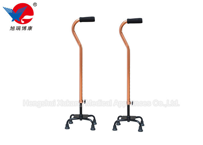 Strong Durable Medical Walking Crutches Four Legged Bottom With Rubber Pad